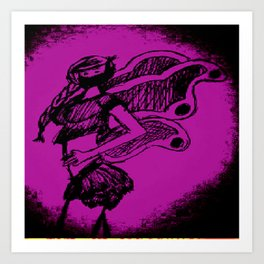 """Women with no faces--series """"Fairy Art Print"""