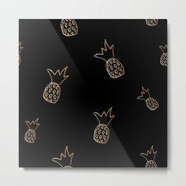 Pinapples Metal Print