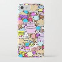 dessert iPhone & iPod Cases featuring Dessert by Julia Emiliani