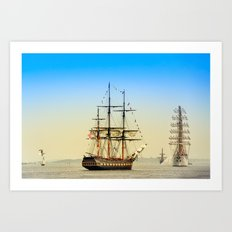 Sail Boston - Oliver Hazard Perry Art Print