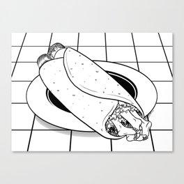 Burrito Time Canvas Print