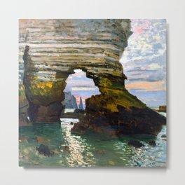 Claude Monet Etretat Metal Print