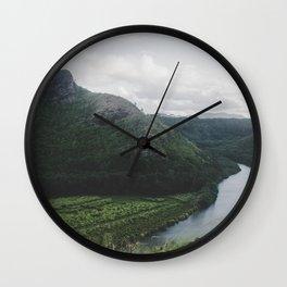 River Mountain Trail - Kauai, Hawaii Wall Clock