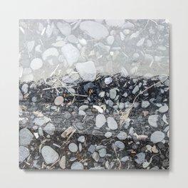 Alaska, Exposed: Beach Rocks & Mountain Metal Print