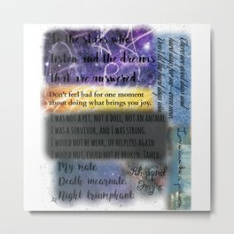 ACOMAF QUOTES Metal Print