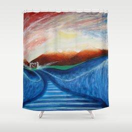 WALK BY FAITH Shower Curtain