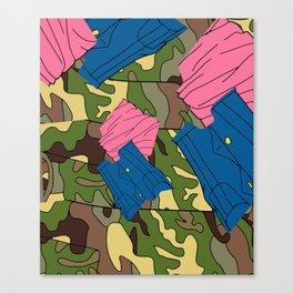 Army Girl Clothing Canvas Print