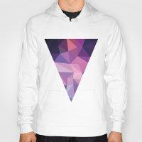 polygon Hoodies featuring VIOLET POLYGON by Crimson-Shark