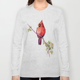 Cardinal Bird Vintage Style Red Cardinal design Long Sleeve T-shirt