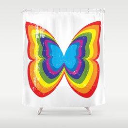 Nick Mason butterfly Shower Curtain