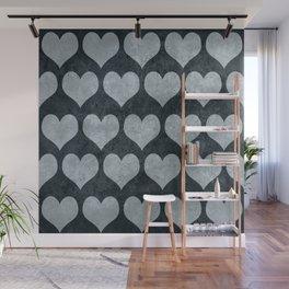 Rustic Hearts Wall Mural