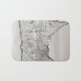 Old Map of Minnesota Bath Mat