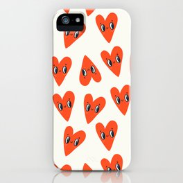 Happy Hearts iPhone Case