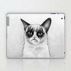 Grumpy Simmons Cat Whimsical Funny Animal Music Laptop & iPad Skin