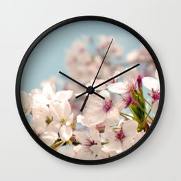 Spring, Flower Photography, Pastel, Pink, Romantic Cherry Blossom, Art Deco - 8 x 10 Wall Decor Wall Clock