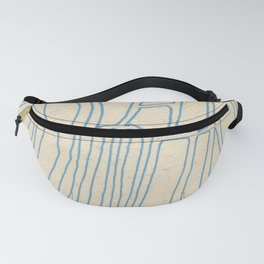 Blue Line Abstract Fanny Pack