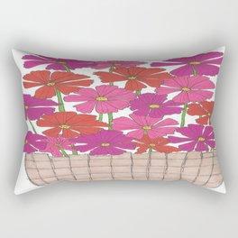 Bushel of Cosmos Rectangular Pillow