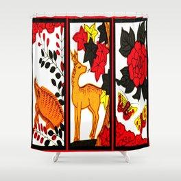 HANAFUDA Shower Curtain