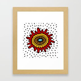 Splashed Mandala Framed Art Print