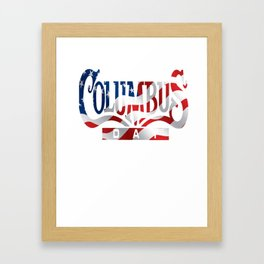Columbus Day T-shirt Framed Art Print