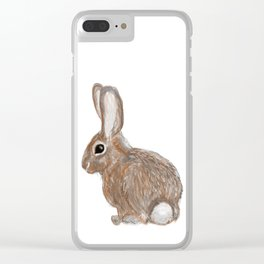 Cotton Tail Clear iPhone Case