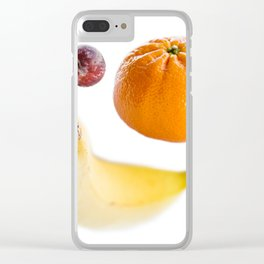 Plums, Banana and Orange Clear iPhone Case