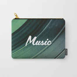Music on Record. (Green) Carry-All Pouch