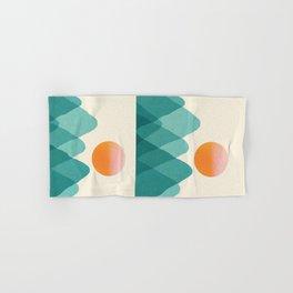 Abstraction_Mountains_SUNSET_Landscape_Minimalism_003 Hand & Bath Towel