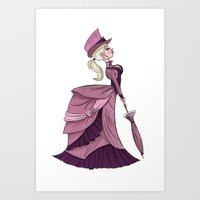 victorian Art Prints featuring Victorian by Kenimation