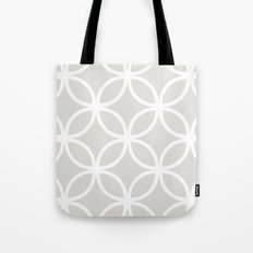 Gray Geometric Circles Tote Bag