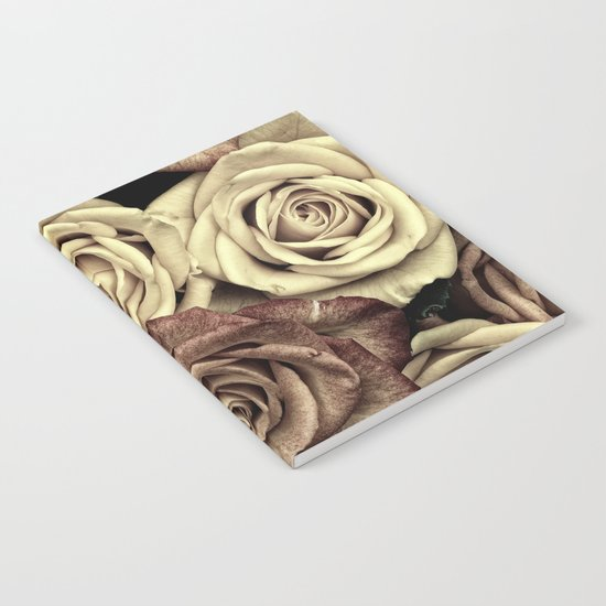 Brown Roses Notebook