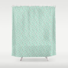 Raindrop Confetti Shower Curtain