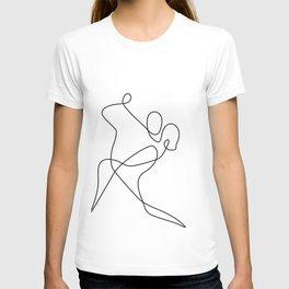 minimal line dance T-shirt