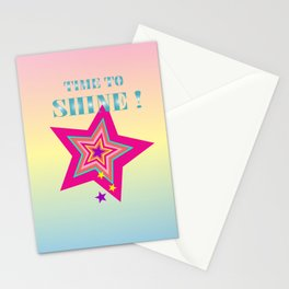 Time to shine! rainbow Stationery Cards
