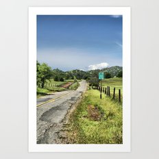 No Turn Around Beyond This Point Art Print