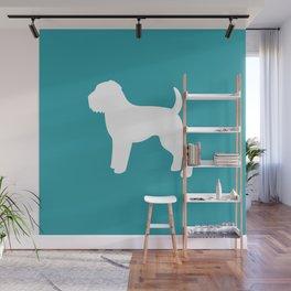 Wheaten Terrier (Teal/White) Wall Mural