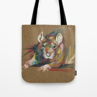 rat Tote Bags featuring Rat by Nuance