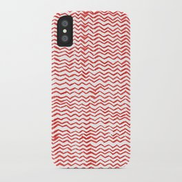 Red Wavy Chevrons iPhone Case