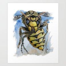 Wasp attack Art Print