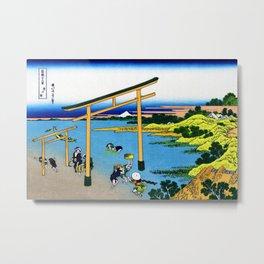 Mt,FUJI36view-Nobotonoura - Katsushika Hokusai Metal Print