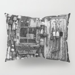 B&W Fishing Shack Pillow Sham