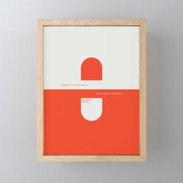 Solidarity 100mg Framed Mini Art Print