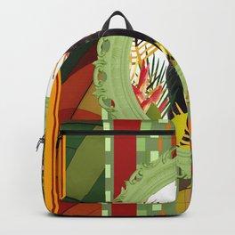 Black Cat jungle Frame pattern Backpack