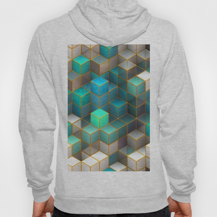 Geometry & Turquoise Hoody