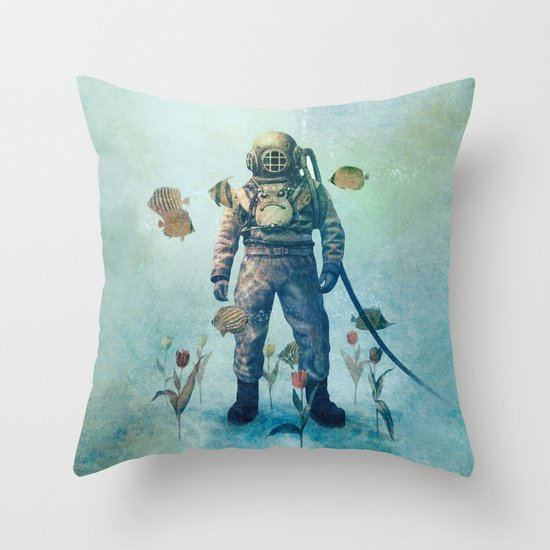 Deep Sea Garden  Throw Pillow