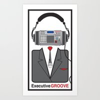 Executive Groove Sampler-Head Art Print