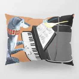 Piano lesson with Angel Pillow Sham