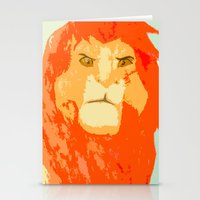 simba Stationery Cards featuring Simba by Makayla Wilkerson