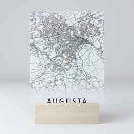 Augusta, GA, USA White City Map Mini Art Print