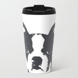 Boston Terrier Pop Art Metal Travel Mug